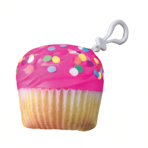 Cupcake Scented Keychain Ring
